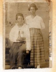 Cora Nelson Benjamin and Sister